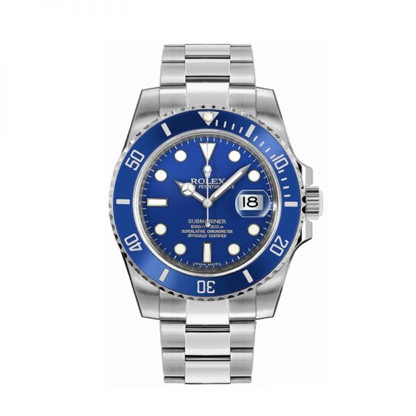 Rolex Submariner 116619 Montre automatique pour homme en or blanc 40 mm