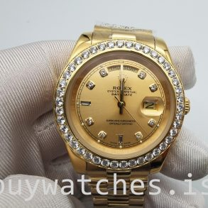 Rolex Day-Date 128348rbr Montre Automatique Unisexe 36 mm Or avec Diamants