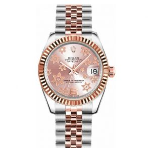 Rolex Datejust 178271 Montre Automatique Unisexe 31 mm Cadran Floral Rose